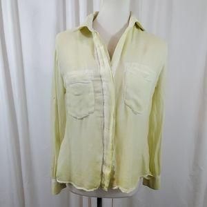 ANTHROPOLOGIE CLOTH & STONE Yellow Buttondown Top